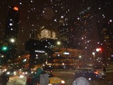 Snöig storstad