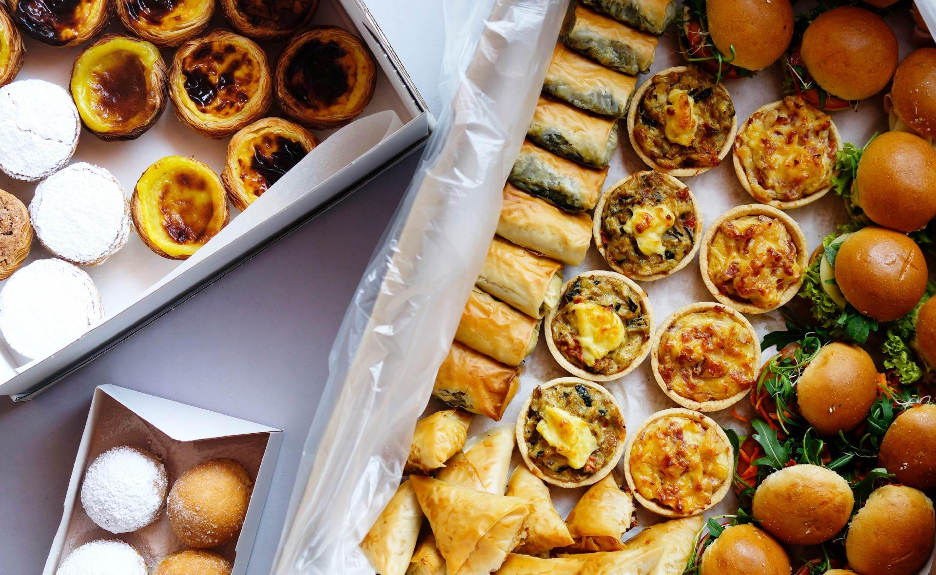 Portugiesisch-griechisches Fingerfood-Catering