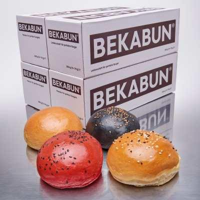 Unsere besten Hamburger Brötchen BEKABUN® No1 - Classic, No2 – Vegan, No3 – Black Edition und No7 – The Red jetzt neu in einem Probierpaket zum reduzierten Preis.