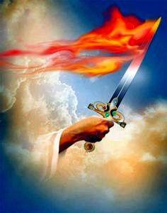 Sword with hand of JESUS