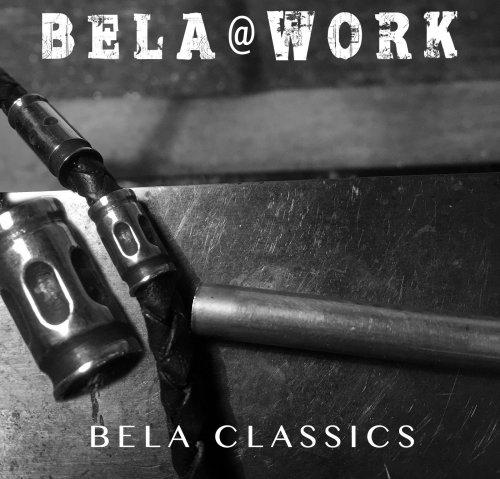 Armband Classic W6 – Zwart gevlochten vintage leder – geoxideerd Sterling Zilver