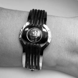 Armband Art Deco – Sterling Zilver – Tombak – Leer – Unica