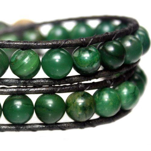 Wikkelarmband Classic B8 – Afrikaanse Jade