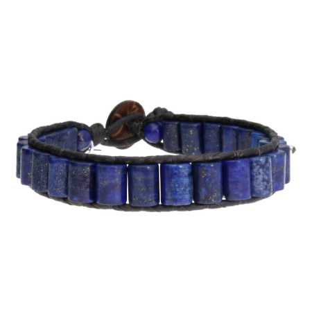 Armband Classic Blue Jeans B6 Blauw Lapis Lazuli Leer-4