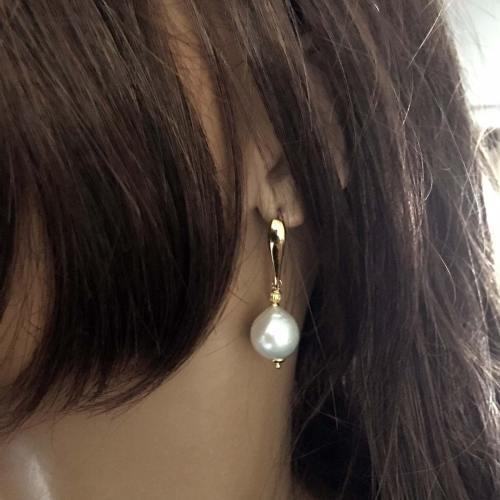 Oorbellen Elegance – Witte Parels – Sterling Zilver verguld