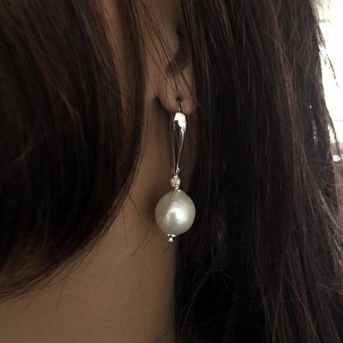 Oorbellen Elegance – Witte Parels – Sterling Zilver