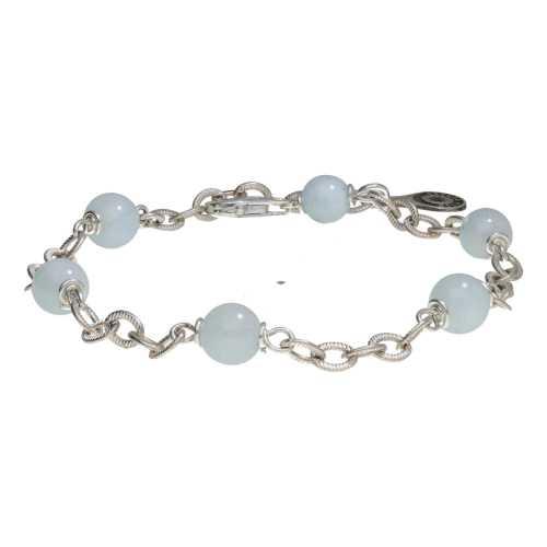 Armband Wrap Wire B6 – Aquamarijn – Sterling Zilver