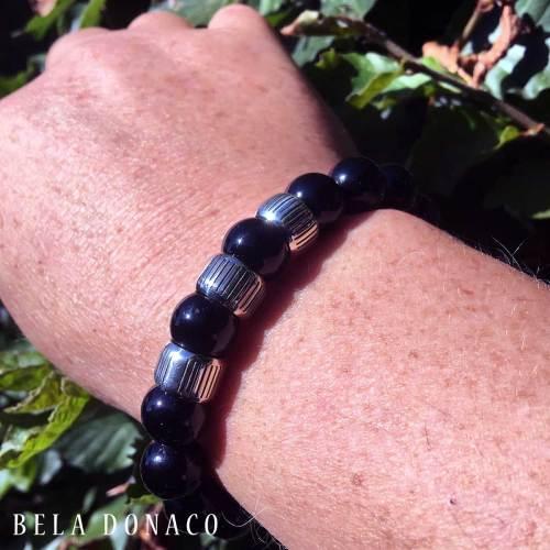 Armband Luxury B12 Retro – Onyx – Sterling Zilver