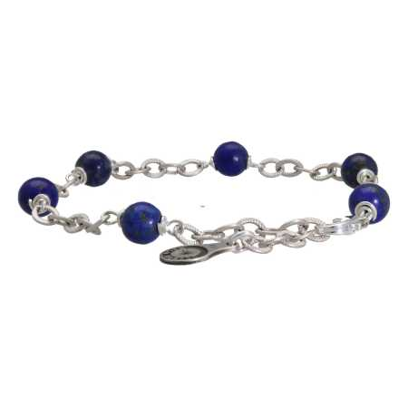 Armband Wrap Wire B6 Lapis Lazuli Sterling Zilver-2