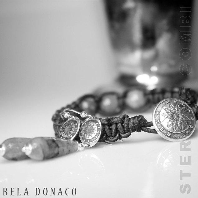 Sterling zilveren combi armband en oorbellen