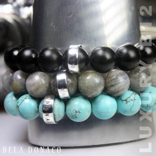 Armband Luxury B12 – Labradoriet – Sterling Zilver