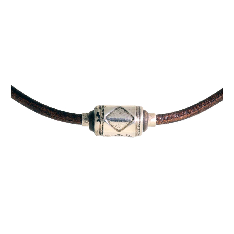 ketting-limited-edition-w10-bruin-vintage-leder-handmade-spacer-geoxideerd-sterling-zilver-3