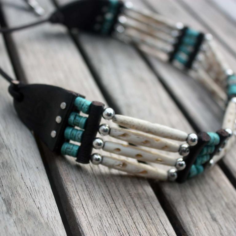 Indian Pipe Choker - Bela Donaco - Native Art