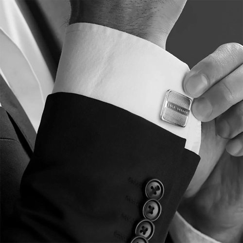 Manchetknopen Classic W14 – Handmade – gepolijst Sterling Zilver