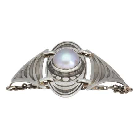 Armband Bohemian Limited Edition Mabe zoutwater parel Sterling Zilver-9