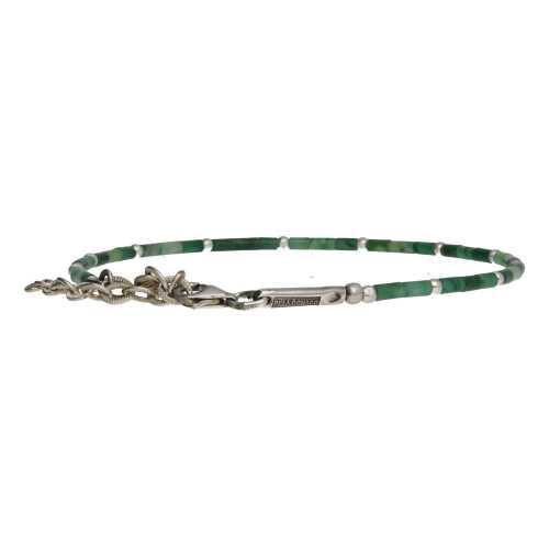 Enkelbandje Bohemian B2.5 – Afrikaanse Jade – Sterling Zilver