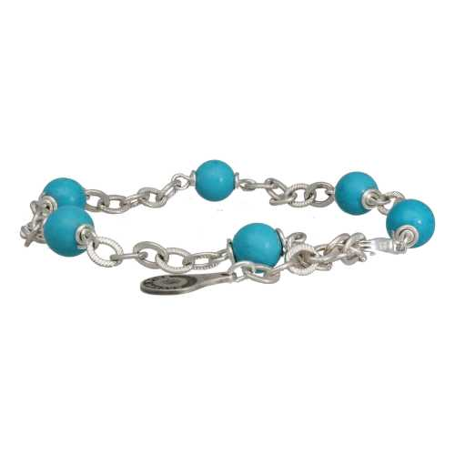 Armband Wrap Wire B6 – Hubei Turquoise – Sterling Zilver