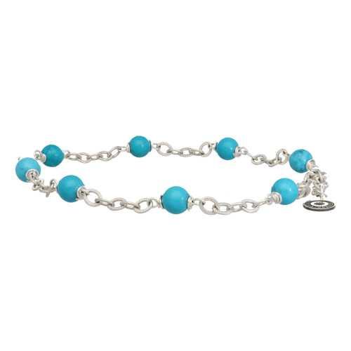 Enkelbandje Wrap Wire B6 – Hubei Turquoise – Sterling Zilver