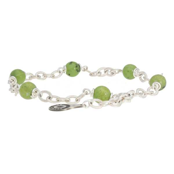 Armband Wrap Wire B6 Canadese Jade Sterling Zilver-1