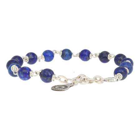 Armband Wrap Wire B6 Lapis Lazuli Sterling Zilver 2-6