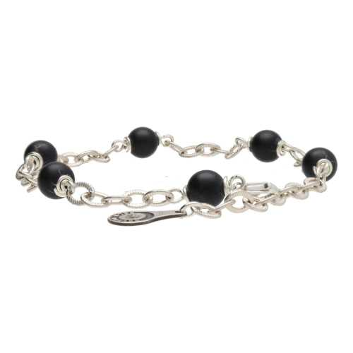 Armband Wrap Wire B6 – mat Onyx – Sterling Zilver