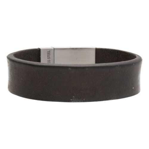 Armband Business line W20 – RVS – Vintage leder