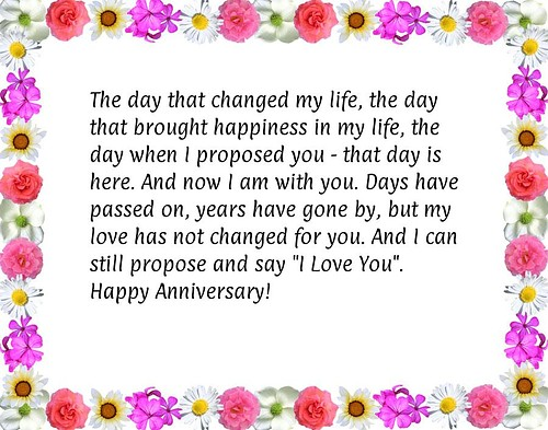 quotes about love and marriage anniversary with flower
