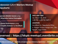 Indonesian C/C++ Warriors Meetup Yogyakarta March 10, 2018