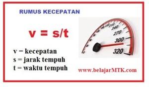 Rumus Menghitung Kecepatan