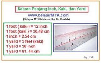 Satuan Panjang Inch, Kaki, Meter dan Yard