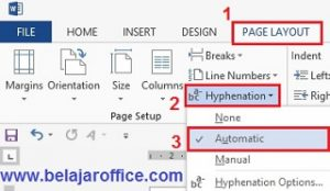 Hyphenation Menu