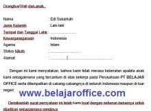 Contoh Surat Izin Orang Tua untuk Bekerja di Perusahaan