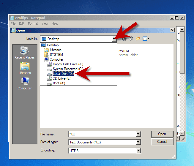 select-local-disk
