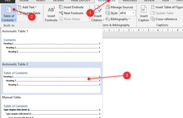 Cara Membuat Daftar Isi Otomatis Table Of Content Pada Microsoft Word Belajar Komputer Tutorial Teknisi Komputer