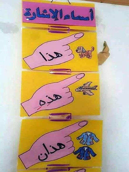 أسماء الأشارة مجسمات بسيطة عن اللغة العربية