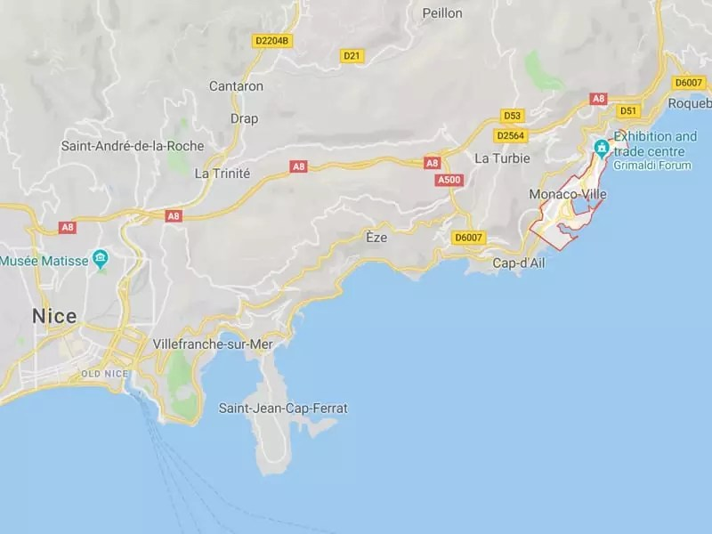 map monaco southern france where is monaco