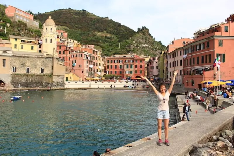 Vernazza from below, where to stay in cinque terre, best place to stay in cinque terre