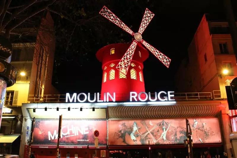 Moulin Rouge red light district, paris arrondissements map, best places to visit in paris