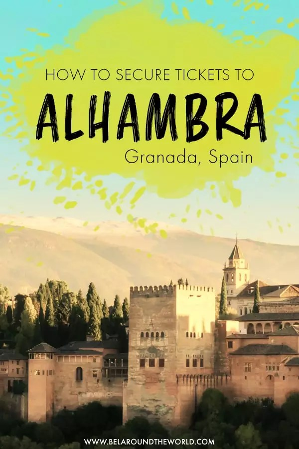 Visiting Alhambra, Granada? Get tips on beating the queue to get tickets to Alhambra, and the best way to visit Alhambra in this post!