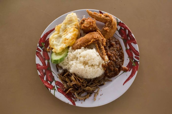 nasi lemak|Singapore's Changi Village