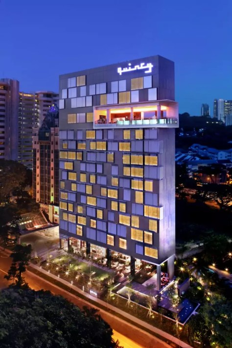 The Quincy Hotel_Facade_high; Singapore Unique Luxury Hotels For Under $300
