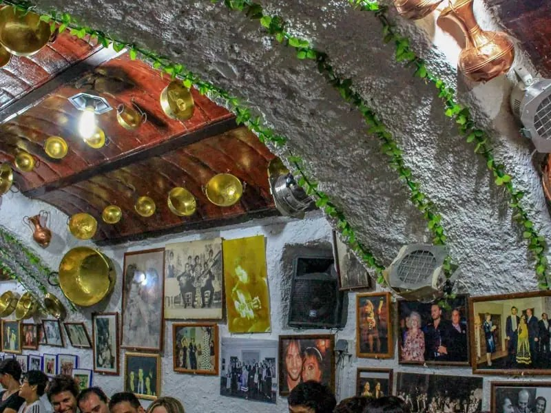 Flamenco Cave Bar Sacromonte Granada Spain Gypsy