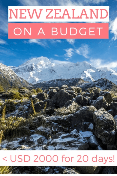 New Zealand budget trip itinerary, new zealand on a budget, new zealand trip cost, new zealand expensive, cost to travel to new zealand