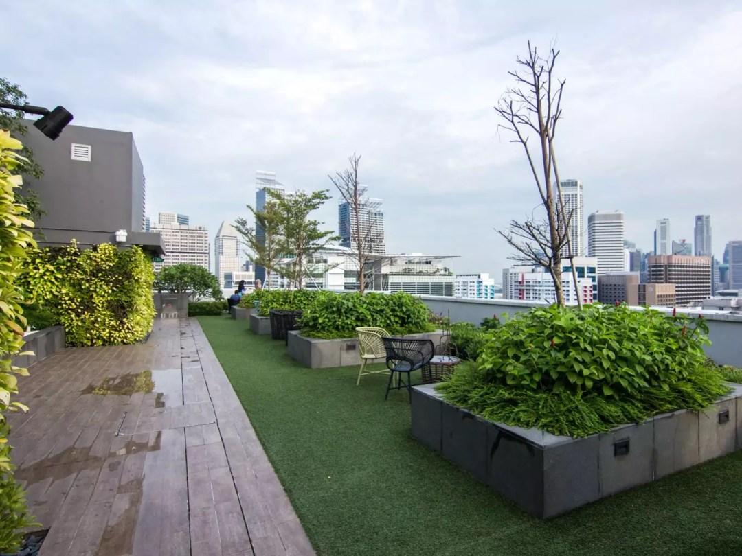Mercure Singapore Bugis rooftop skydeck