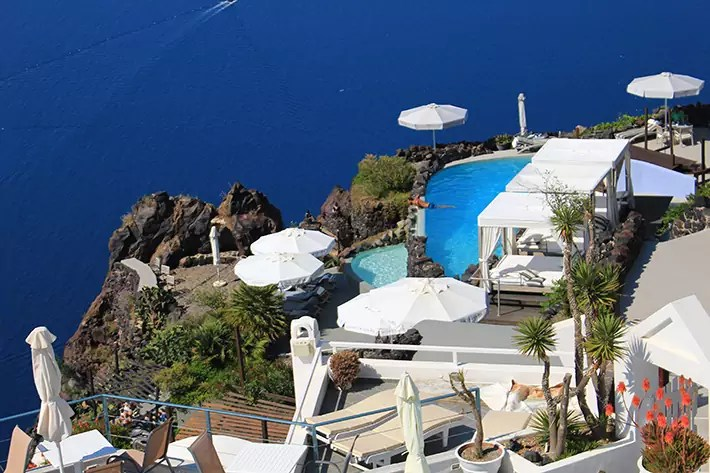 santorini greece infinity pool villa Perfect Greek Villa