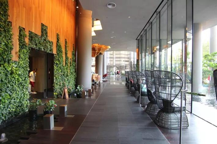 PARKROYAL on Pickering lobby-green-corridor