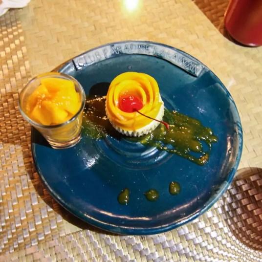 club paradise palawan coron mango cheesecake dessert, coron palawan hotels