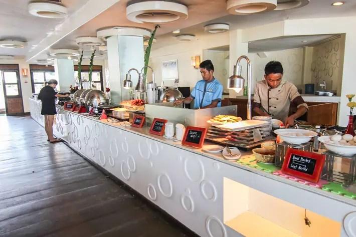 club paradise palawan coron restaurant buffet breakfast, coron palawan hotels