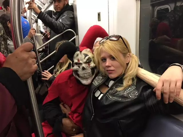 subway monsters NYC halloween