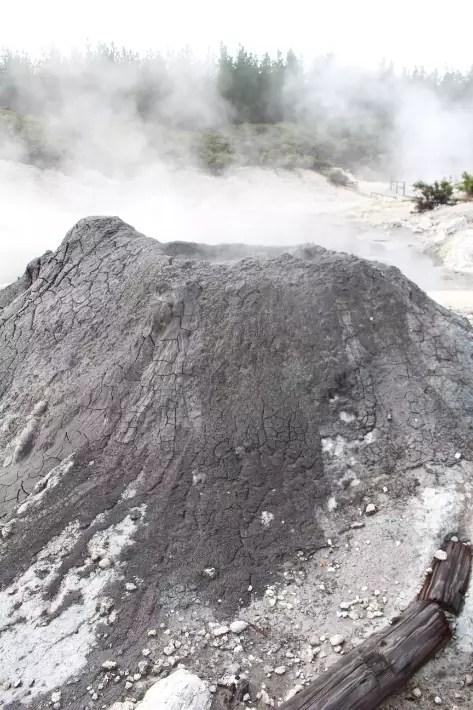 Mud volcano,Hell's Gate Geothermal Park Mud Spa, Rotorua, New Zealand